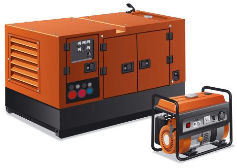 Os geradores elétricos são capazes de transformar alguma forma de energia, como a energia química dos combustíveis fósseis, em força eletromotriz