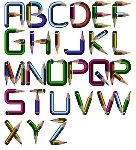Os lápis unidos podem formar letras. Estas formam palavras, e se o objetivo é nomear, surge o substantivo
