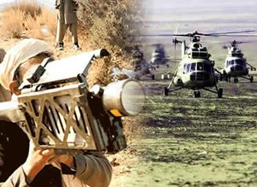 Os mujahedins contaram com o apoio militar norte-americano para combater as tropas russas