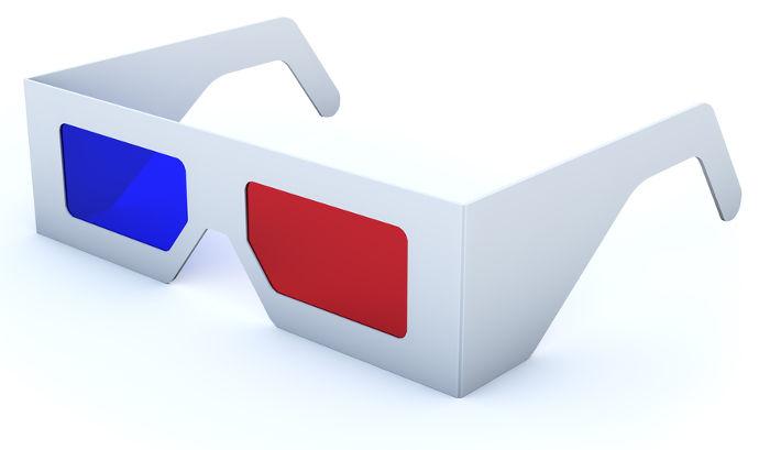 Os óculos 3D são usados para perceber a terceira dimensão em telas bidimensionais