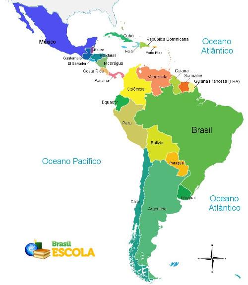 Os países da América Latina apresentam características históricas, sociais e culturais semelhantes