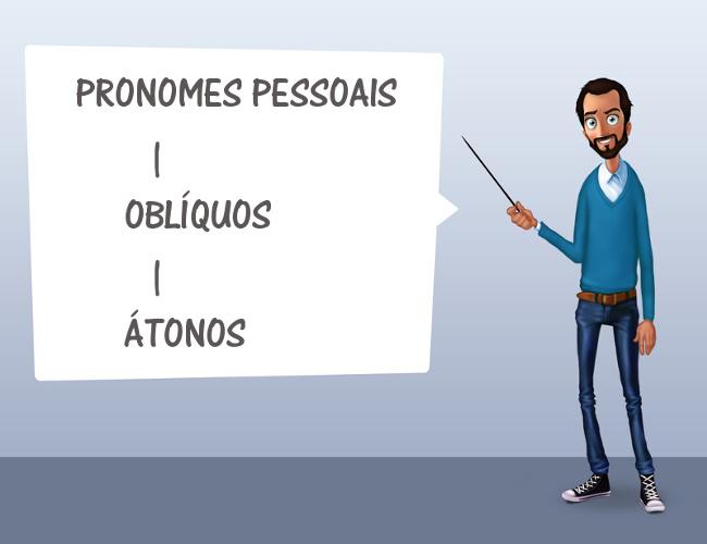 Os pronomes oblíquos átonos podem desempenhar função de objeto direto, objeto indireto, entre outras