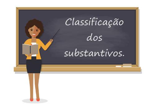Os substantivos podem ser classificados de diferentes maneiras