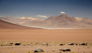 Paisagem do deserto do Atacama, o lugar mais seco da Terra