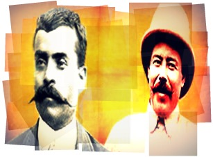 Pancho Villa e Emiliano Zapata mobilizaram um levante camponês no México