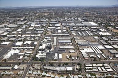 Parque Industrial em Tempe, Arizona (EUA).