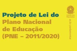 Capa do Projeto de Lei do Plano Nacional de Educação