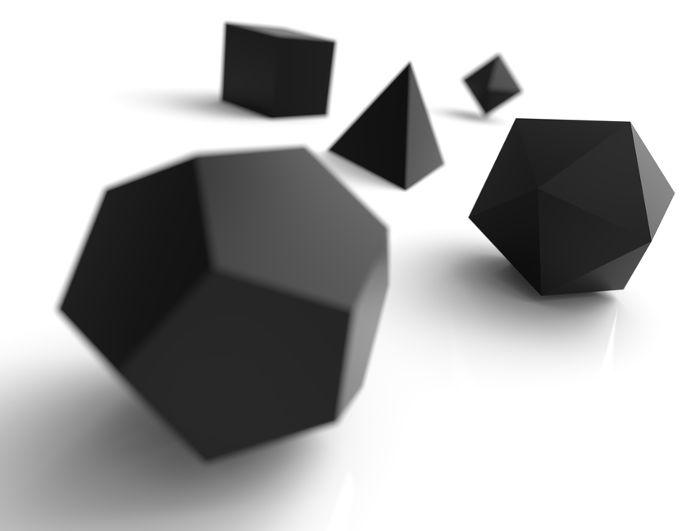 Poliedros convexos são estudados em Geometria