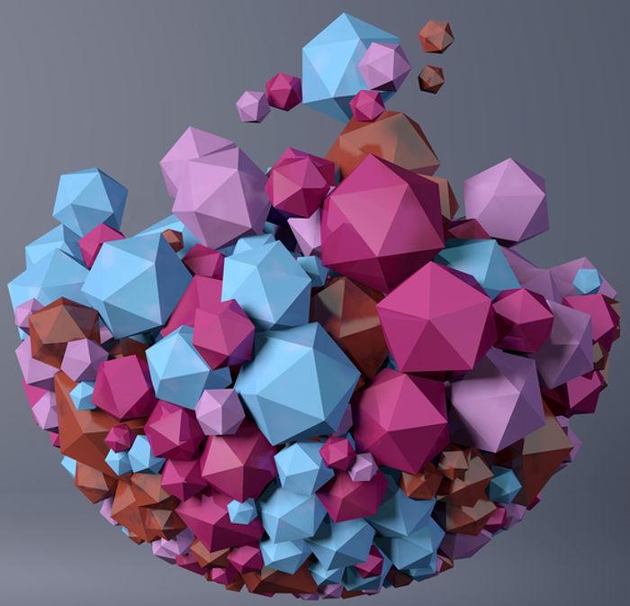 Poliedros são sólidos geométricos limitados por polígonos