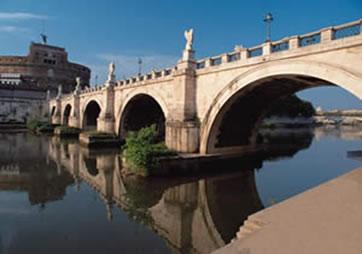 Ponte sobre o rio Tibre, Itália