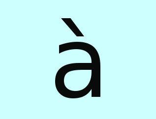 Preposição a + artigo a = à