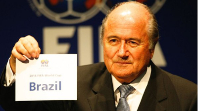 Presidente da FIFA anuncia Brasil como sede da Copa de 2014