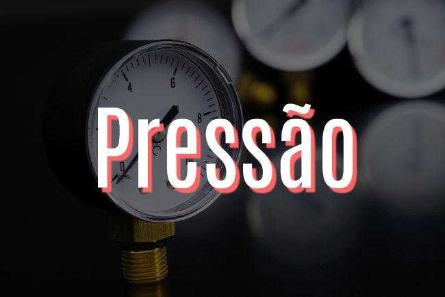 Pressão é uma grandeza física escalar definida pela razão entre a força aplicada e a área de aplicação.