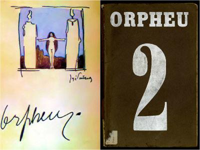 Primeiro e segundo número da Revista Orpheu, publicação lançada no primeiro semestre de 1915