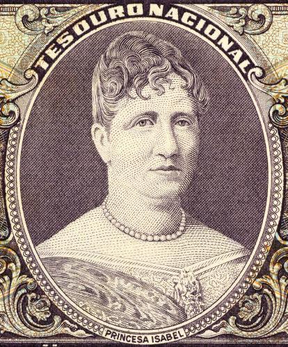 Princesa Isabel, que nasceu em 1846, foi regente do Brasil por três ocasiões e assinou a Lei Áurea, em 1888.*