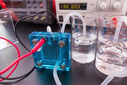 Produção dos gases hidrogênio e oxigênio a partir da eletrolise da água
