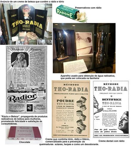 Anúncios e produtos com rádio em sua composição