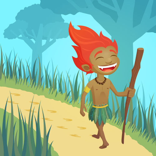 Na lenda, o curupira é um ser conhecido como protetor da floresta.