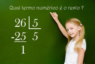 Quando o resto é zero, a divisão é exata, caso o resto seja diferente de zero, é não exata