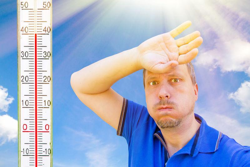 Quando sentimos o dia quente, é porque ocorre passagem de calor do meio ambiente para o nosso corpo