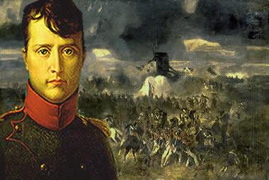 Queda de Napoleão Bonaparte na Batalha de Waterloo, 1815