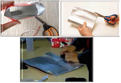 Processo de reciclagem de caixa de leite para aquecer ou resfriar casa