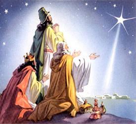 Reis Magos seguindo a Estrela de Belém