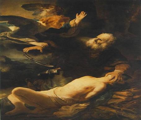 """A emoção por meio da gradação da claridade - """"O Sacrifício de Abraão"""". Rembrandt van Rijn (1606-1669)"""