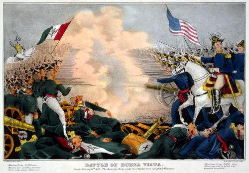Representação da Batalha de Buena Vista, também conhecida como Batalha de Angostura, de 1847*