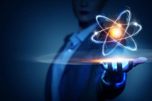 Representação de um átomo
