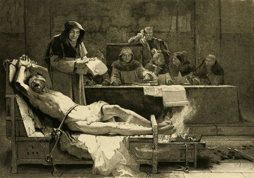 Retrato das torturas realizadas durante o interrogatório inquisitorial