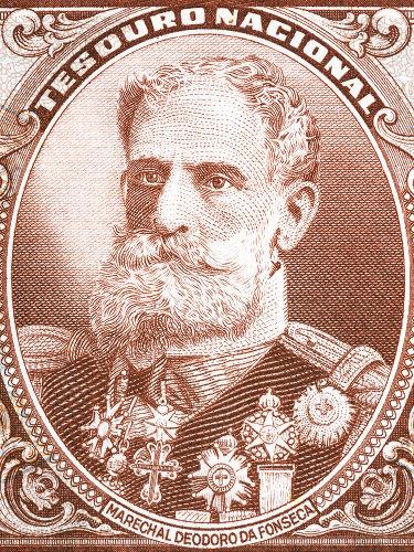 Retrato do Marechal Deodoro da Fonseca, o primeiro presidente do Brasil