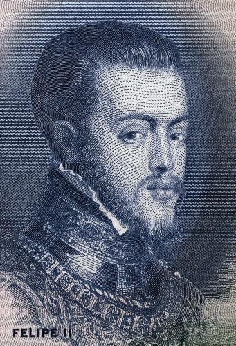 Retrato do rei Filipe II da Espanha, nomeado rei de Portugal em 1580.