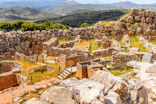 Ruínas de Micenas, a maior cidade da civilização micênica