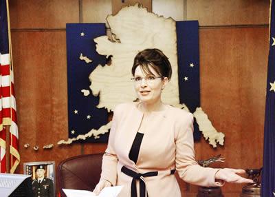 Sarah Palin no exercício de seu cargo de governadora do Estado do Alasca, nos Estados Unidos.