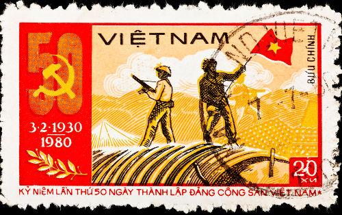 Selo vietnamita relembrou a Batalha de Dien Bien Phu, que ocorreu em 1954 durante a Guerra da Indochina *