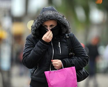 Sensação térmica sentida em um dia de frio