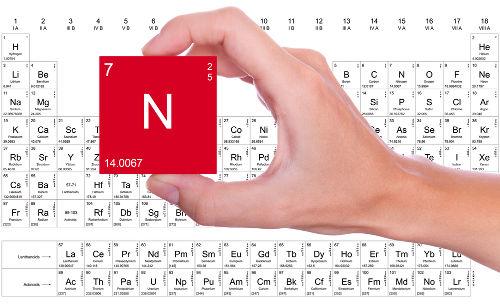 Sigla do elemento químico Nitrogênio