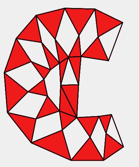 Símbolo utilizado para caracterizar os números complexos que foi construído a partir de figuras geométricas