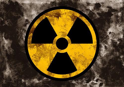 Símbolo utilizado para indicar presença de radiação ou de material radioativo.