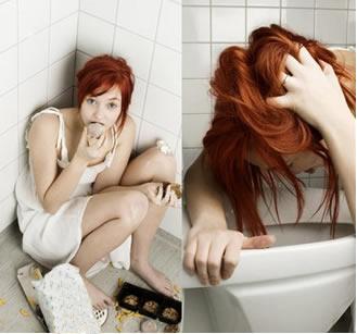 Sintomas de pessoa que possui bulimia