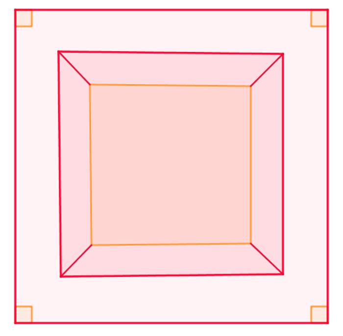 Sobreposição de quadrados e seu uso para representar ângulos retos