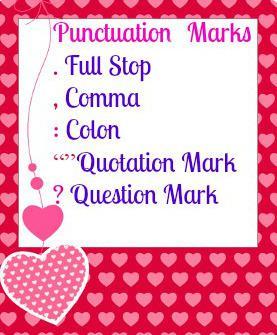Some signs of punctuation in English - Alguns sinais de pontuação em inglês
