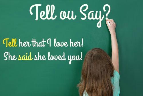 """""""Tell"""" e """"Say"""" significam dizer ou falar em português"""
