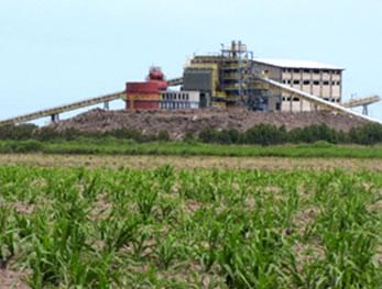 Usina termelétrica que produz energia por meio da biomassa