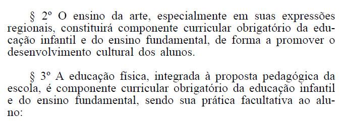 Texto exclui obrigatoriedade de Artes e Educação Física no ensino médio