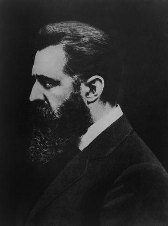 Theodor Herzl, jornalista húngaro considerado o fundador do movimento conhecido como sionismo político