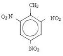 Fórmula estrutural do TNT