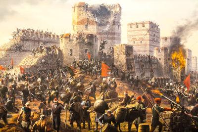 Tomada de Constantinopla por Mehmed II *