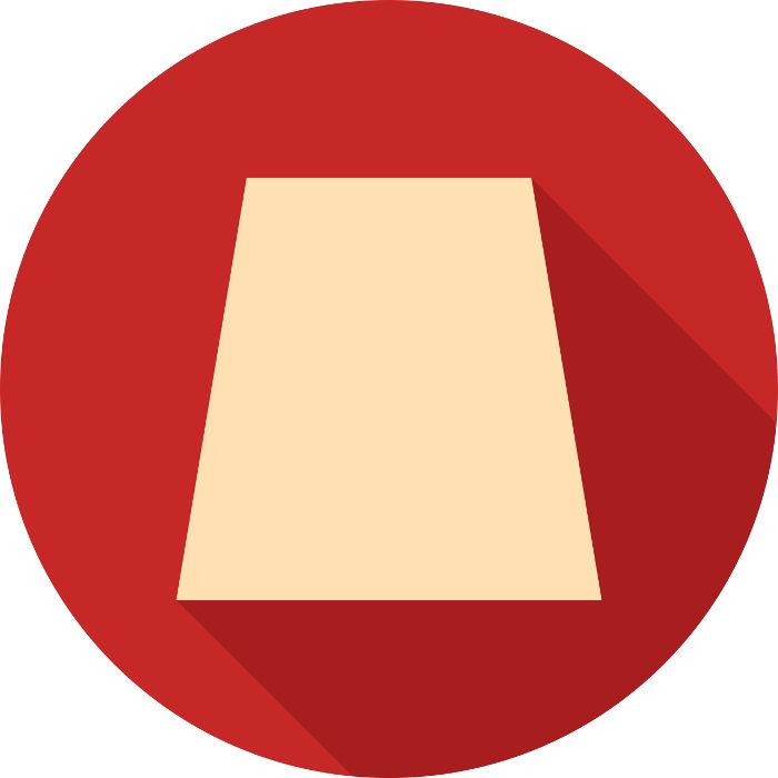 Trapézio: figura que possui um par de lados opostos paralelos
